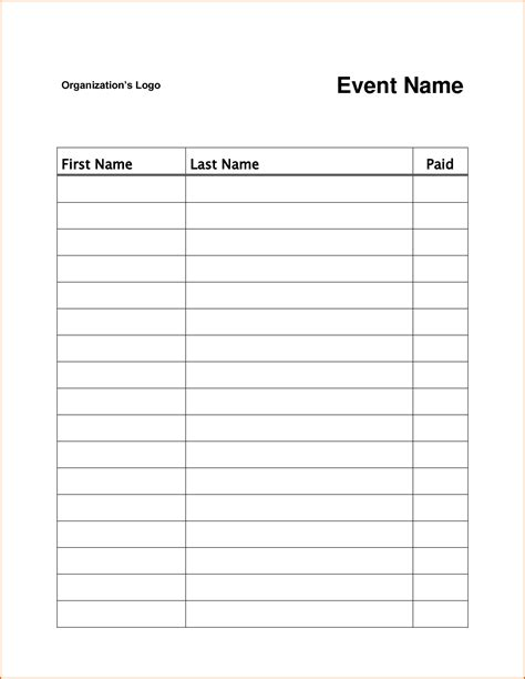7 Sign Up Sheet Template Word Authorizationletters Org Sheet Template Word