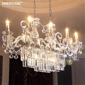 Glass Chandeliers For Dining Room Gorgeous Rectangle Chandelier Light Fixture 13 Lights Glass Chandelier Lighting Lustre