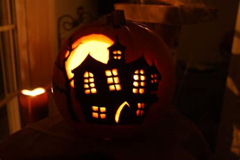 haunted house pattern for pumpkin carving 27 creative pumpkin carving design ideas for halloween