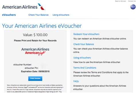 american airlines evoucher compensation and evoucher