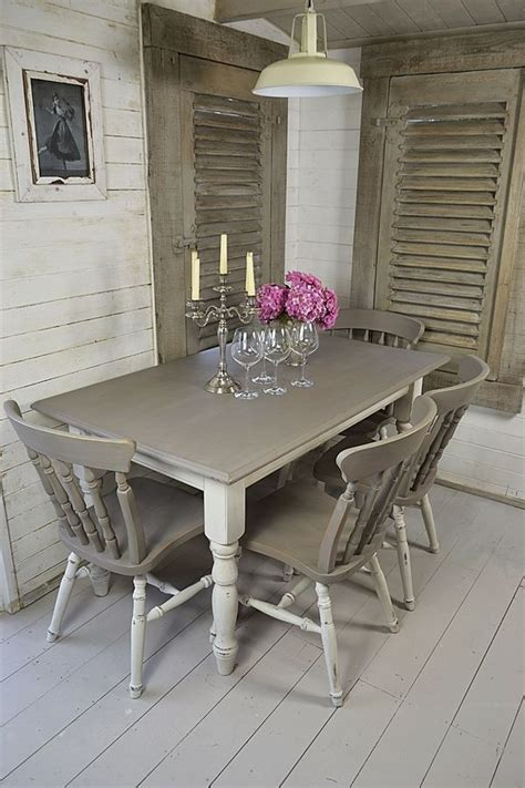 white dining tables shabby chic grey white shabby chic dining table with 4 chairs