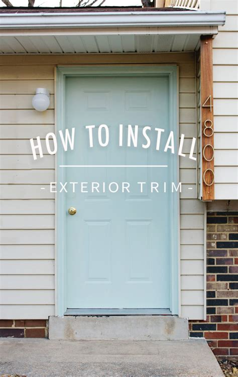 How To Replace Door Trim how to install exterior trim annabode co