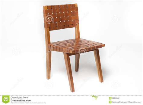 Time Out Chair With Straps teak chair with leather stock photography image 30367032