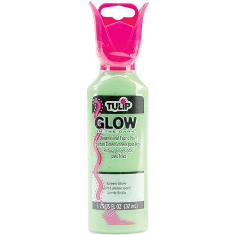 glow in the fabric paint tulip tulip dimensional fabric paint 1 1 4oz glow in the