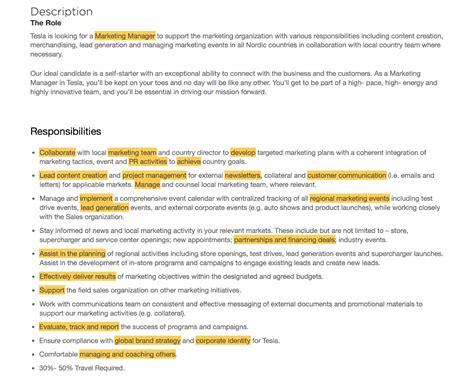 Marketing Resume Keywords by Amazing Marketing Resume Keywords Sketch Resume Exles