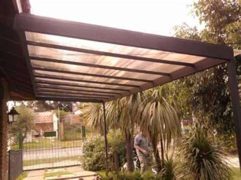 cocheras techadas con policarbonato techos en policarbonato hierro y madera 1500 mt2