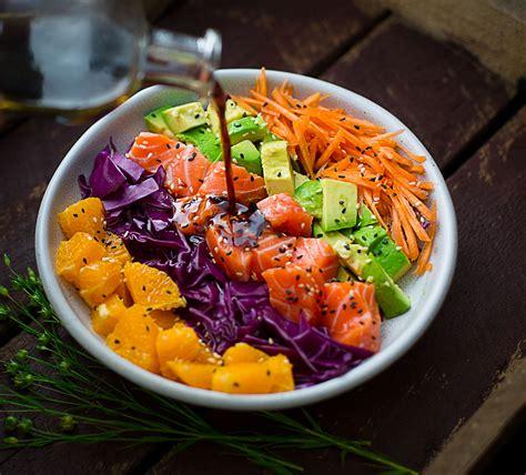 Salad Bowl rainbow salmon salad bowl cooking with