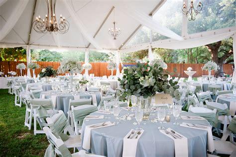 light blue  white outdoor reception decor elizabeth