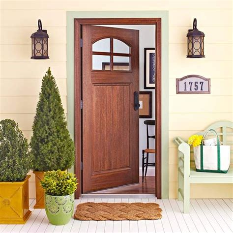 26 Mesmerizing And Welcoming Small Front Porch Design Ideas Small Exterior Door