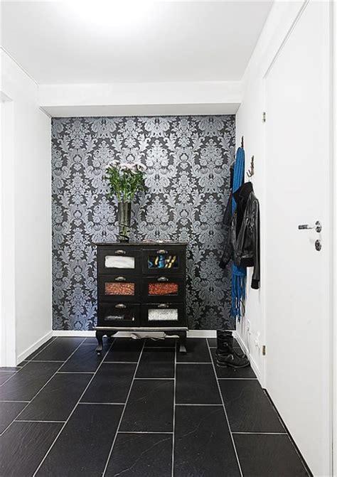 apartment interior design  combines black  white