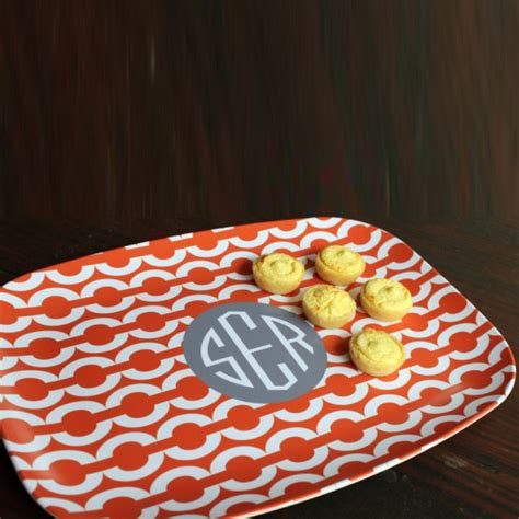 monogrammed serving platters personalized serving platter single initial circle by clairebella