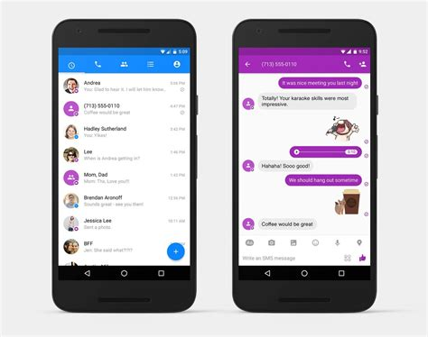 messenger android you can now use messenger to send and receive text messages android central