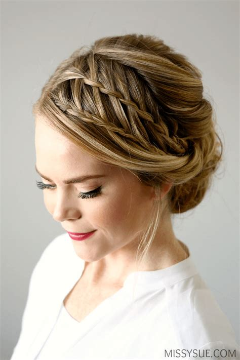waterfall braid updo 22 of the prettiest waterfall braids on livingly