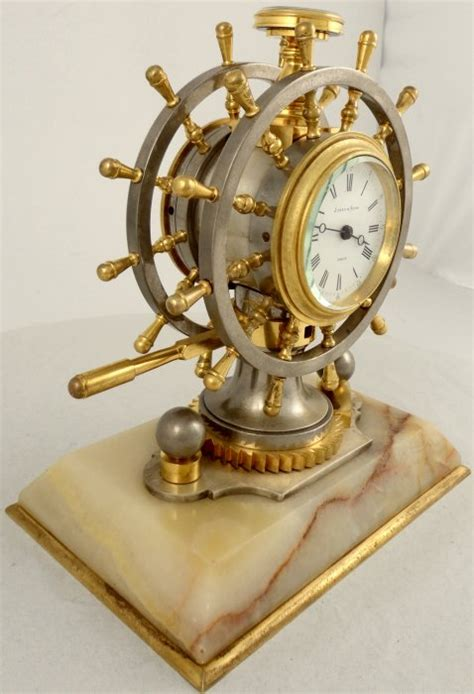antique industrial nautical desk clock ian burton