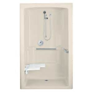 shop kohler almond acrylic one shower common 38 in