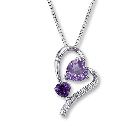 amethyst necklace accent sterling silver