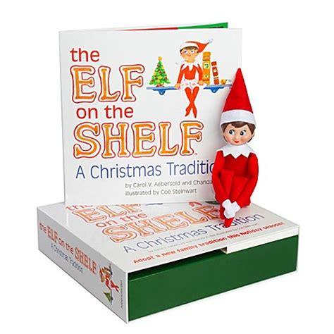 bed bath and beyond christmas lights the elf on the shelf 174 a christmas tradition book set with
