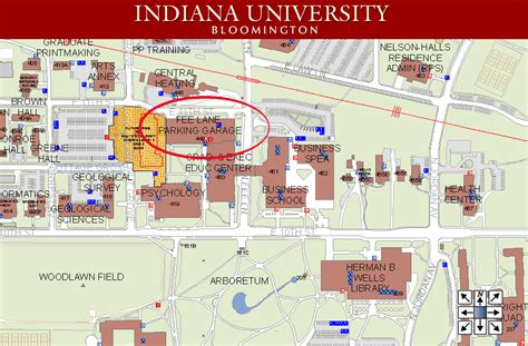 iu map indiana parking map indiana map