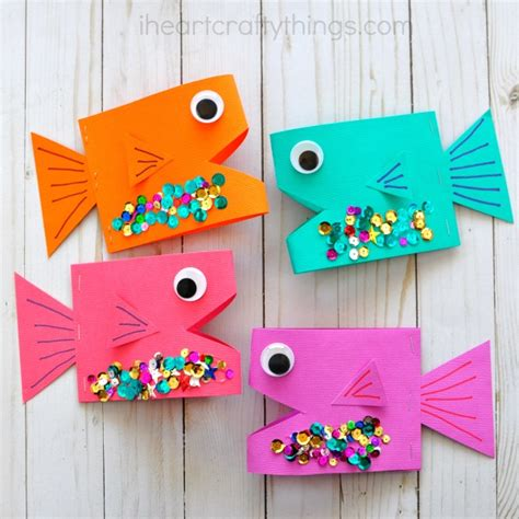 How To Craft Paper - paper fish craft i crafty things