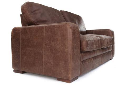 urbanite rustic leather  seater sofa bed   boot sofas