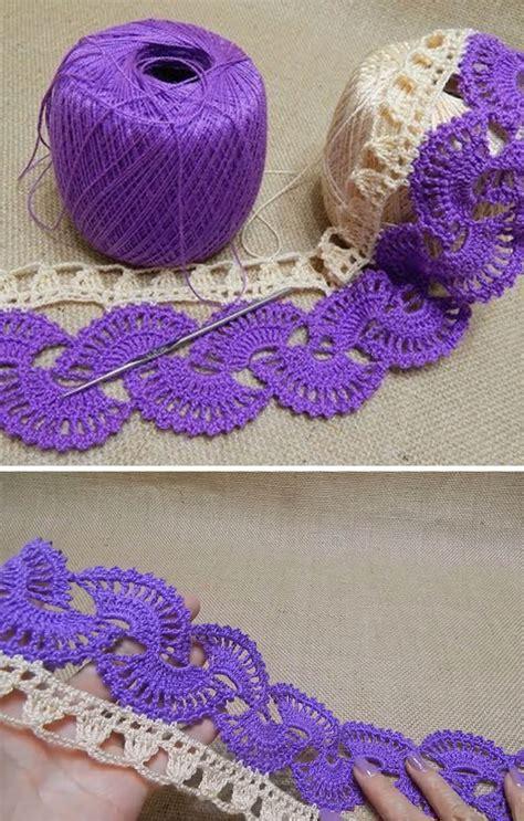 tutorial design patterns border lace crochet pattern tutorial