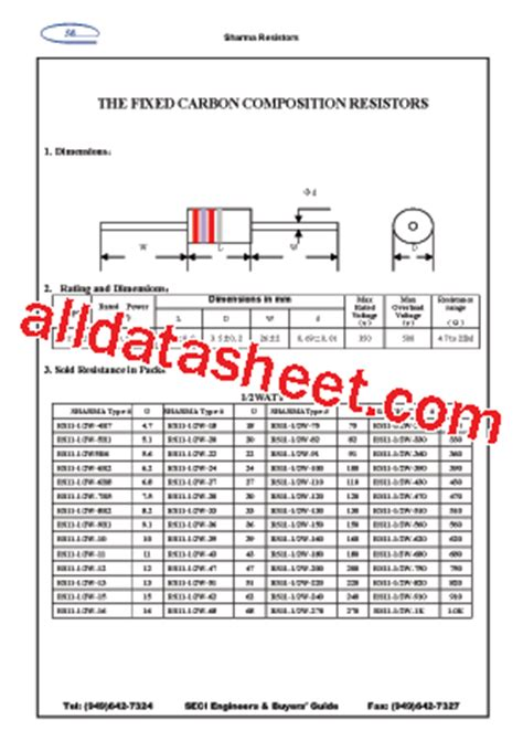 datasheet resistor variable 10k rs11 1 2w 10k datasheet pdf sharma electro components inc