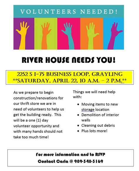 opportunity house thrift store thrift store volunteer flyer