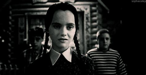 how wednesday addams would react to catcalling reaction animated gif