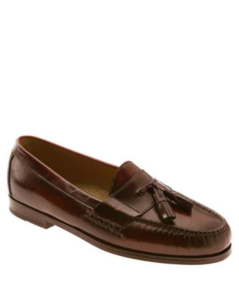 cole haan pinch tassel loafer cole haan pinch tassel loafer in brown for mahogany