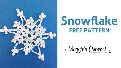 snowflake patterns youtube snowflake in the afternoon cotton free crochet pattern