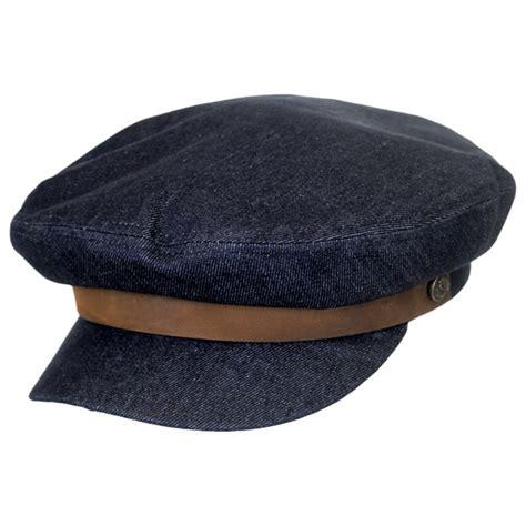 Denim Hat brixton hats denim cotton fiddler cap fisherman
