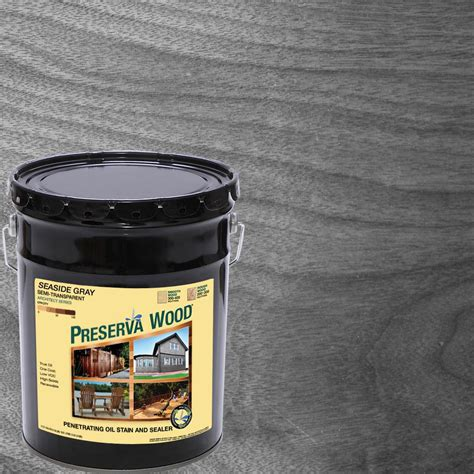 preserva wood  gal seaside gray semi transparent oil