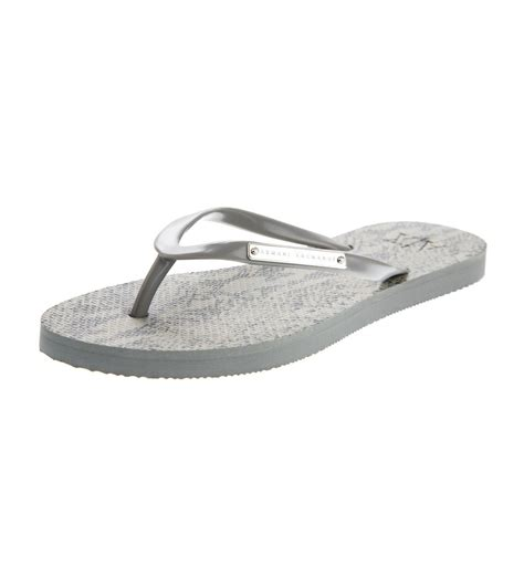 armani exchange slippers armani exchange a x tropical flip flop neutral armani