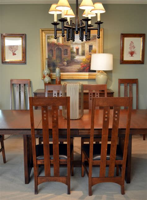 mission style dining craftsman dining room san