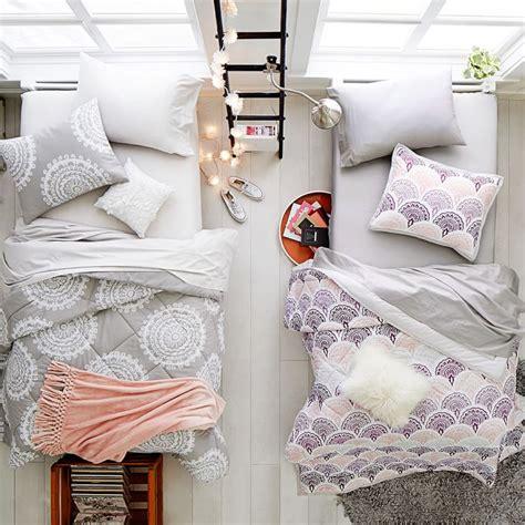 pinzon pyrenees white goose down comforter 4pcs fashion feather print 100 cotton bedding set twin