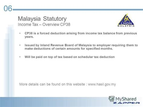 income tax deduction malaysia презентация на тему quot malaysian payroll statutory overview