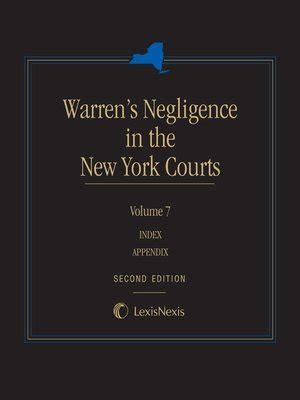 pattern jury instructions new york negligence personal injury law medico legal 183 overdrive rakuten