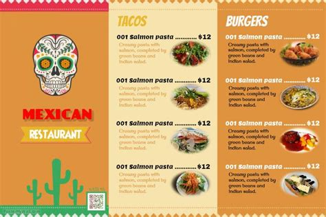 mexican food menu templates http www postermywall com