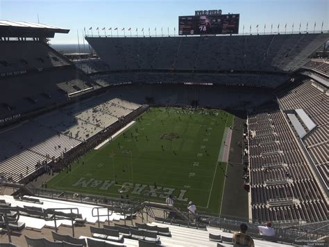kyle field visitor section kyle field section 412 rateyourseats com