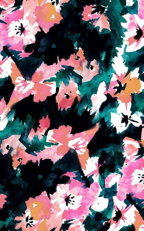 Topi Fashion Kpop Floral Pattern Design 2 november abstract floral wallpapers