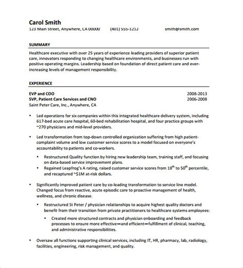 Free Executive Resume Templates Downloads by Executive Resume Template 12 Free Word Excel Pdf