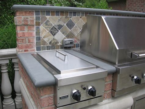 outdoor kitchen backsplash outdoor kitchen bbq design installation bergen county nj