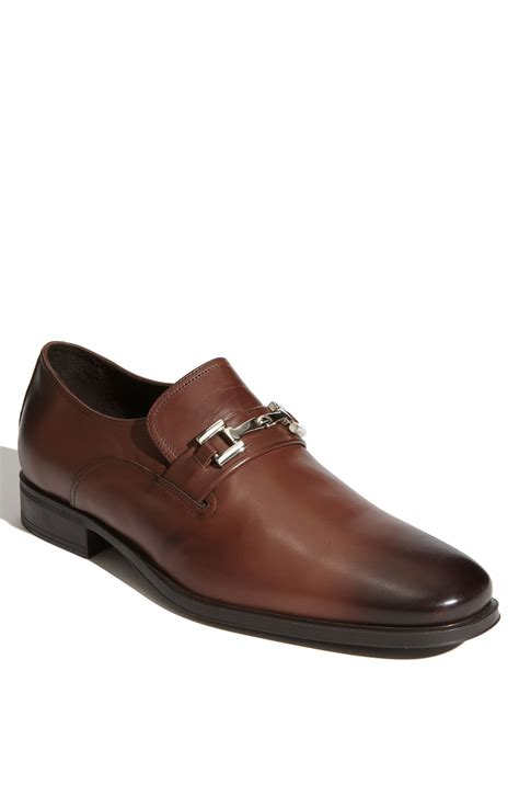bruno magli mens loafers bruno magli gulliver bit loafer in brown for lyst