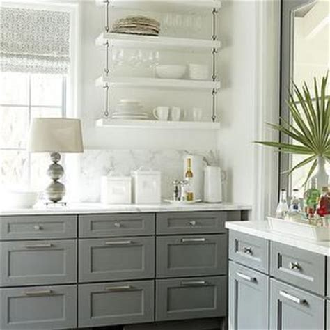 Shelves Instead Of Kitchen Cabinets Kitchen Shelve S Kitchen Hanging Shelves Hanging Shelves Kitchen White And Gray Kitchens No