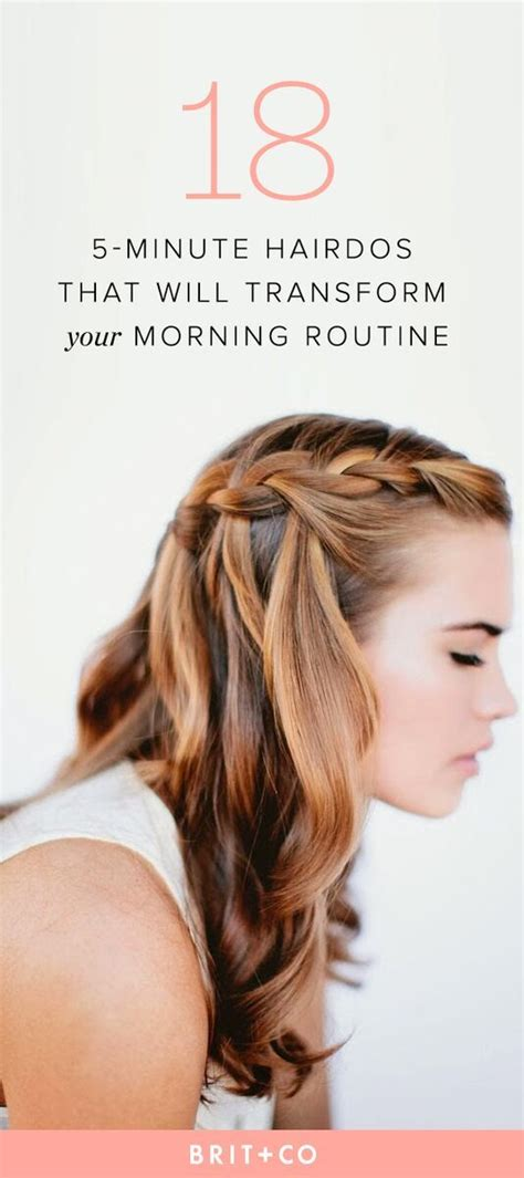 hair style for morning 25 5 minute hairdos that will transform your morning