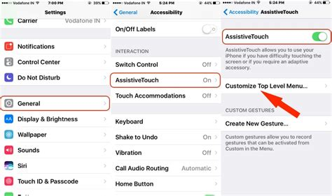iphone settings layout change or customize assistive touch on iphone 7 7 plus 8