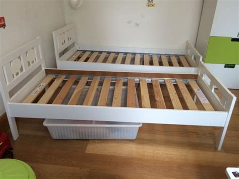 ikea kritter beds white with safety rails for sale in