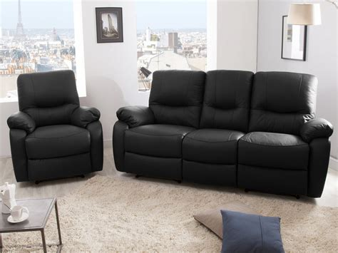 canapes relax canap 233 3 places 2 relax manuel fauteuil cuir gaspard noir