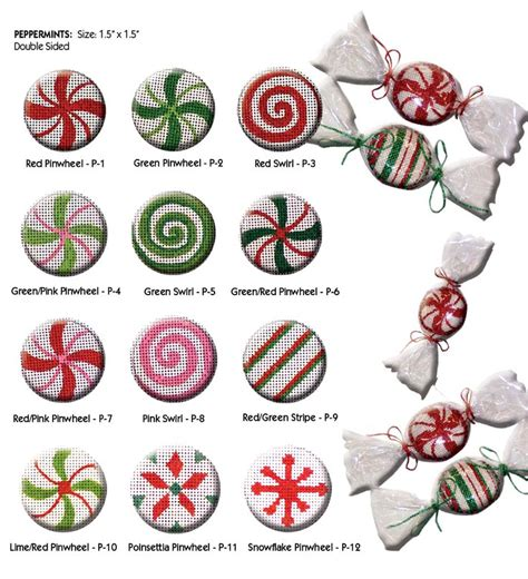 starlight mint christmas tree directions shoppe canvas company needlepoint peppermint starlight mints canvases