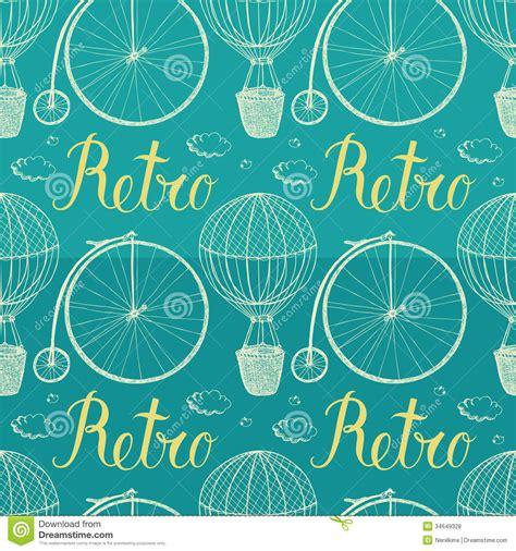 imagenes vintage azul globo y bicicleta del aire caliente del vintage backgrou